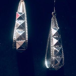 Pyramid stud teardrop earrings